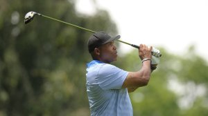 Former NFL linebacker Seth Joyner plays in the Andre Reed Celebrity Golf Classic on Monday, June 27, 2016, at Lehigh Country Club in Lower Macungie Township, Pa. (Matt Smith/The Morning Call via AP) THE EXPRESS-TIMES OUT; WFMZ OUT; MANDATORY CREDIT